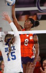 Volleyball Posts 3-1 Upset Of #14 Duke On Friday Night