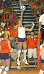 Tiger Volleyball Defeats Wake Forest, 3-1, On Saturday