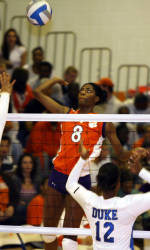 Clemson Volleyball Downs Winthrop In Spring Action