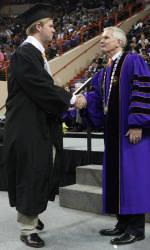 Nine Tiger Gridders Receive Diplomas Thursday