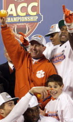 ACC Championship Football Team to be Honored at Clemson-South Carolina Men's Basketball Game