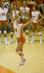 Clemson Volleyball Downs Loyola, 3-0, in DePaul Challenge