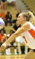 Clemson Volleyball Downs NC State, 3-0, on Sunday
