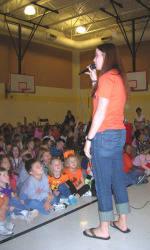 Solid Orange Squad Members Visit Honea Path Elementary School