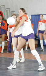 Tiger Volleyball Defeated By Virginia Tech, 3-0, On Saturday Evening