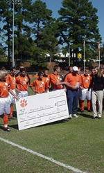 Men's Soccer Team Donates Check To American Red Cross