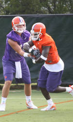 Clemson Holds Second Football Practice