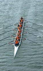 Rowing Competes at Rivanna Romp