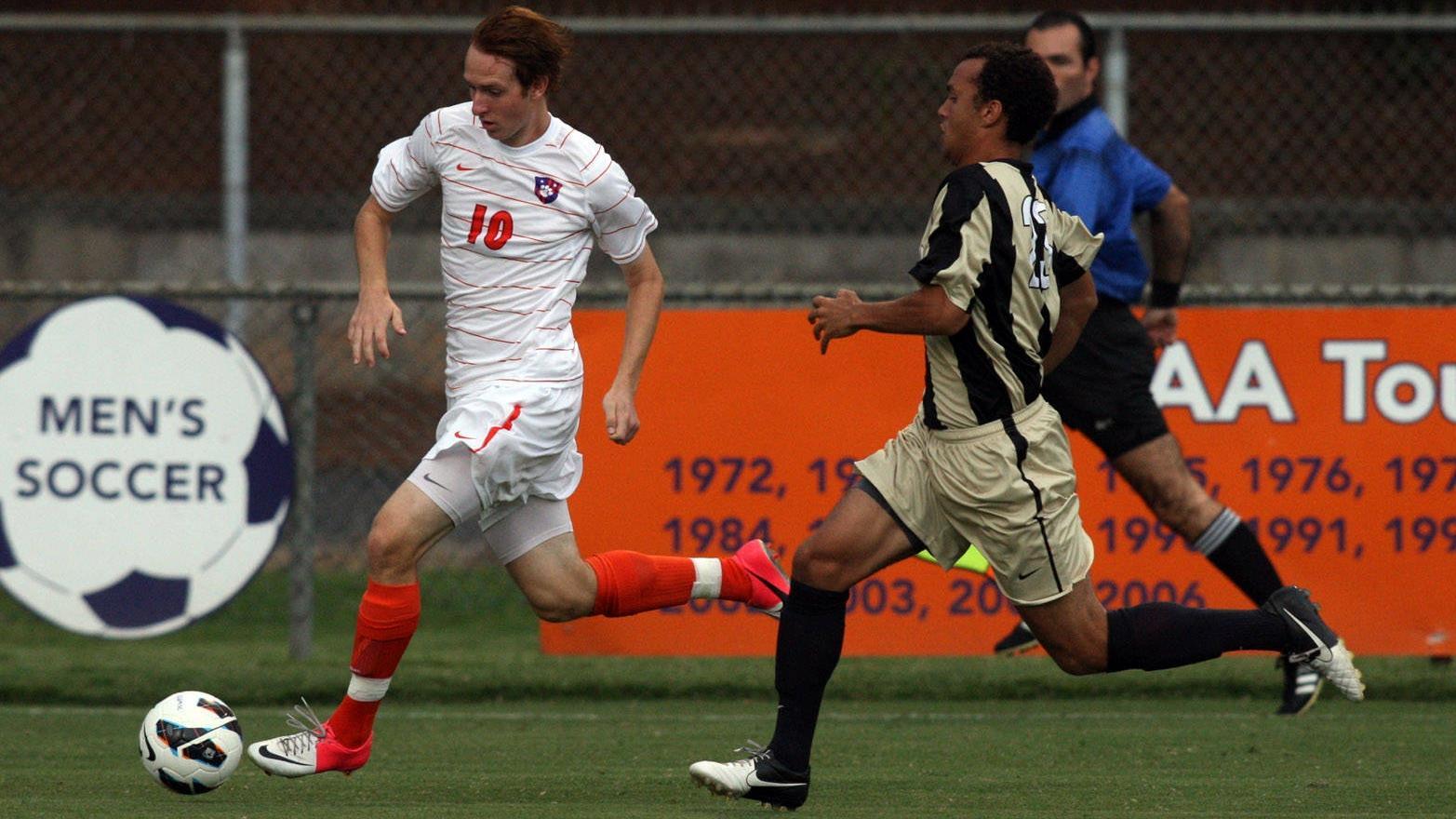 Wofford Defeats Clemson 3-1 in Men's Soccer Exhibition in Regulation