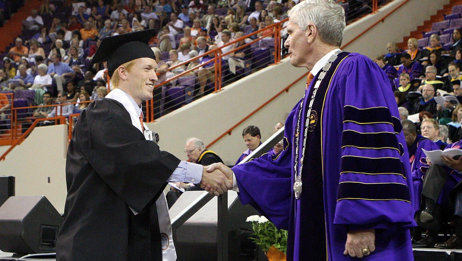 Buckner Receives Clemson Degree