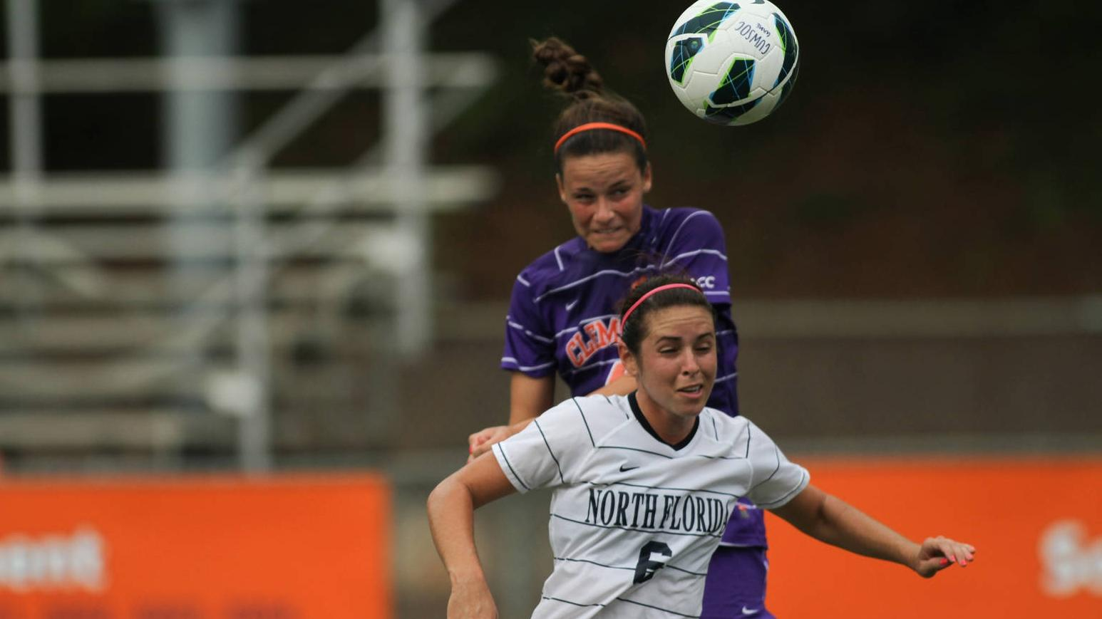 Clemson Women's Soccer Team Defeats North Florida on Sunday Afternoon