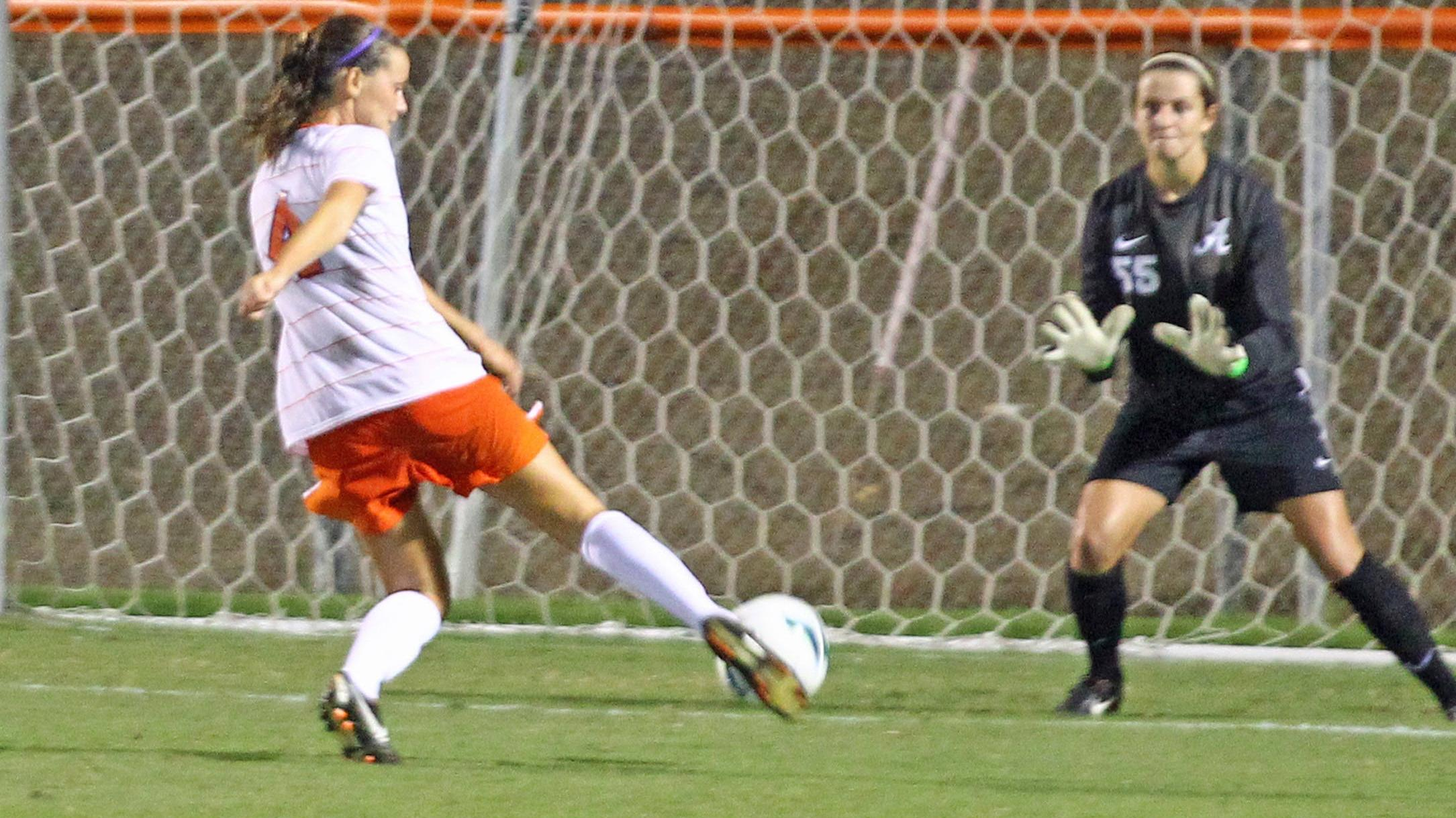 Clemson Women's Soccer Team Defeats Alabama, 1-0, in Exhibition Game Saturday