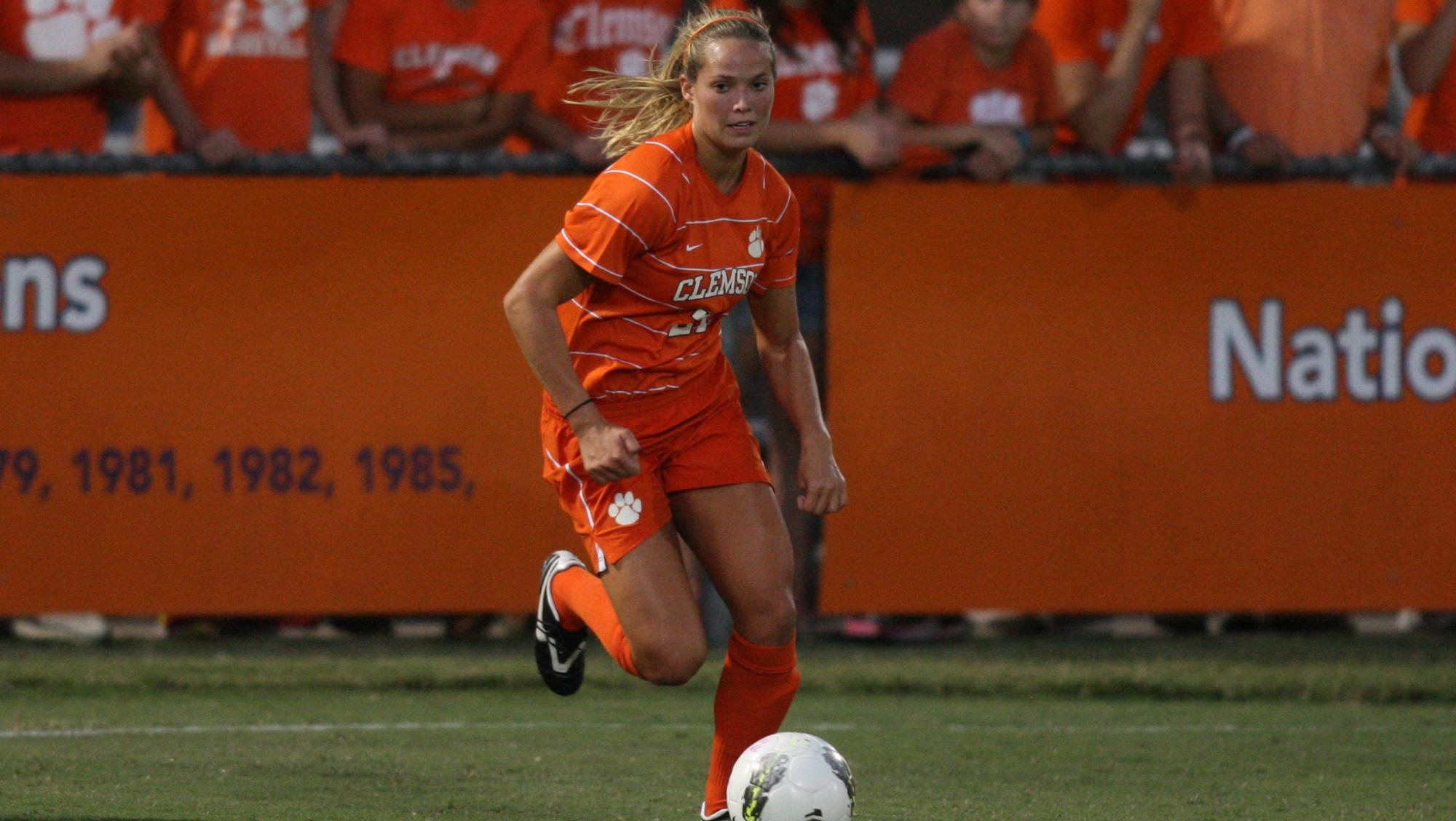 Clemson Women's Soccer Team to Play Host to Alabama in Exhibition Game Saturday