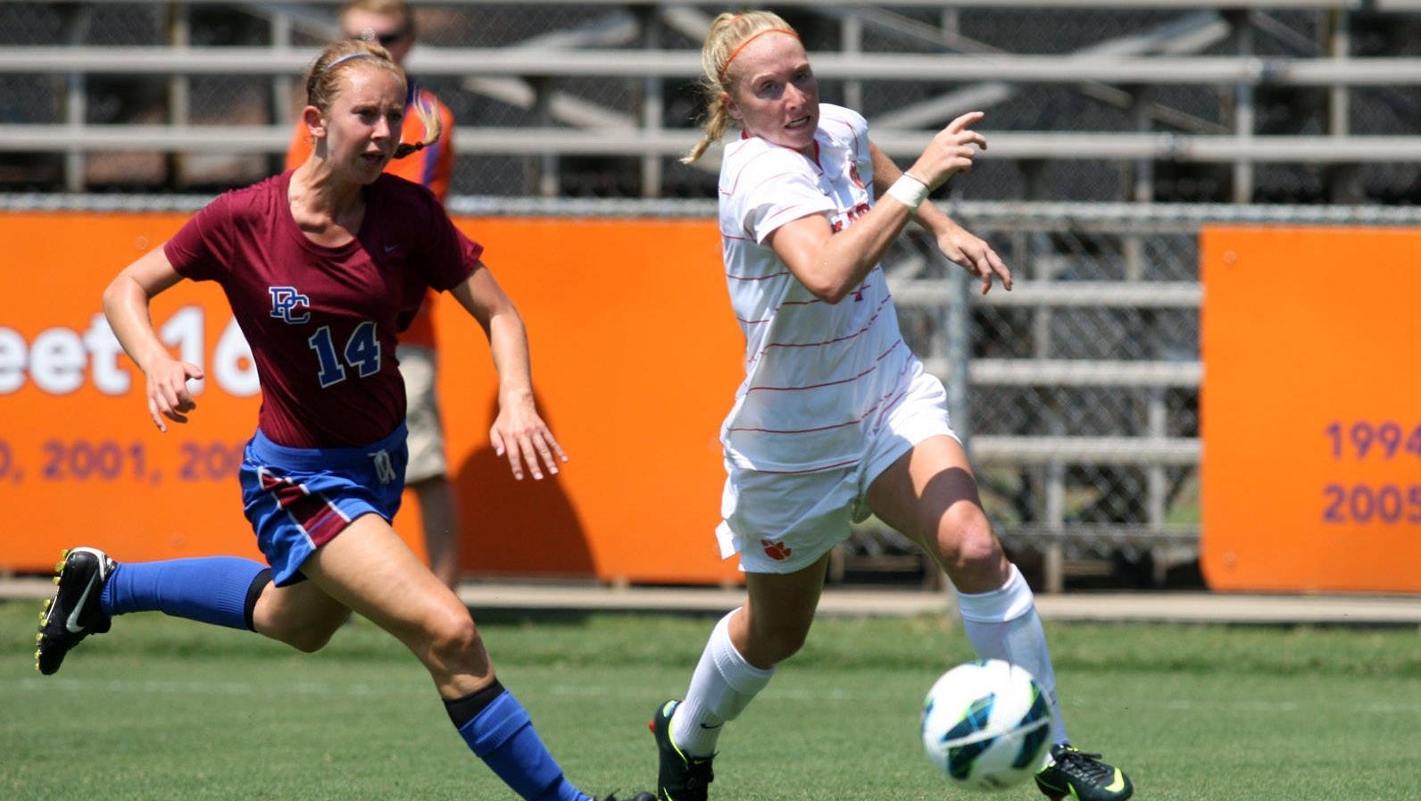 Clemson Women's Soccer Team Defeats Presbyterian College 6-0 Sunday