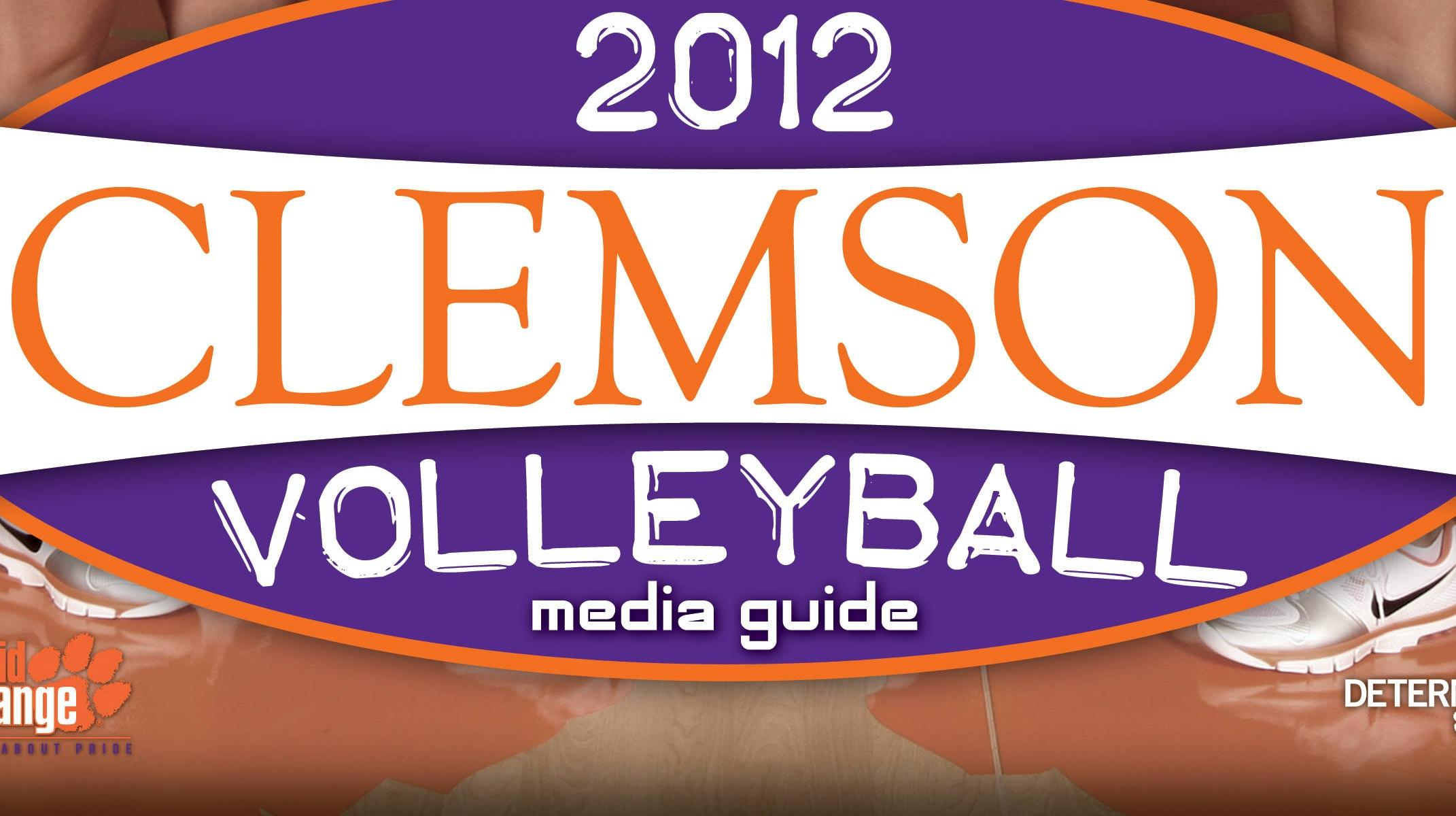 2012 Clemson Volleyball Media Guide