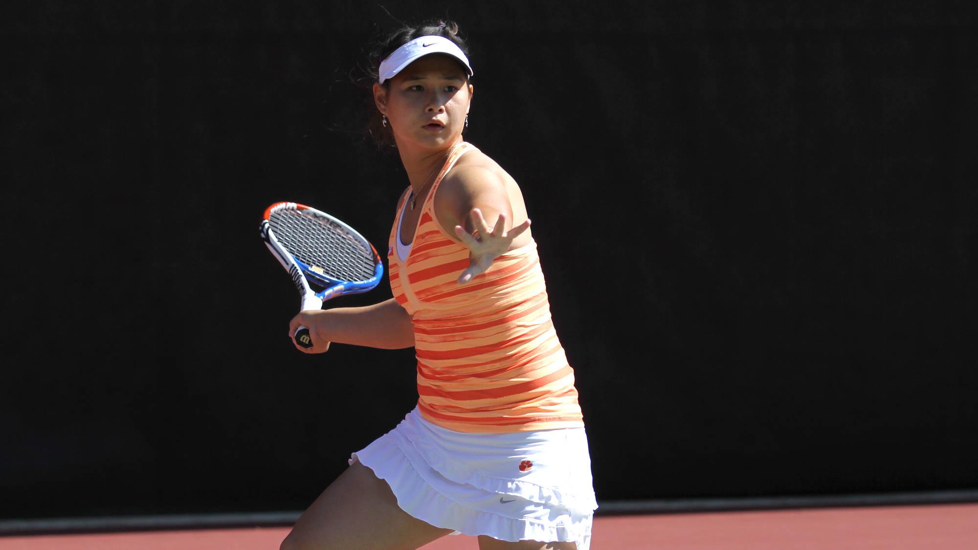 No. 22 Women's Tennis Opens with Clemson Winter Classic