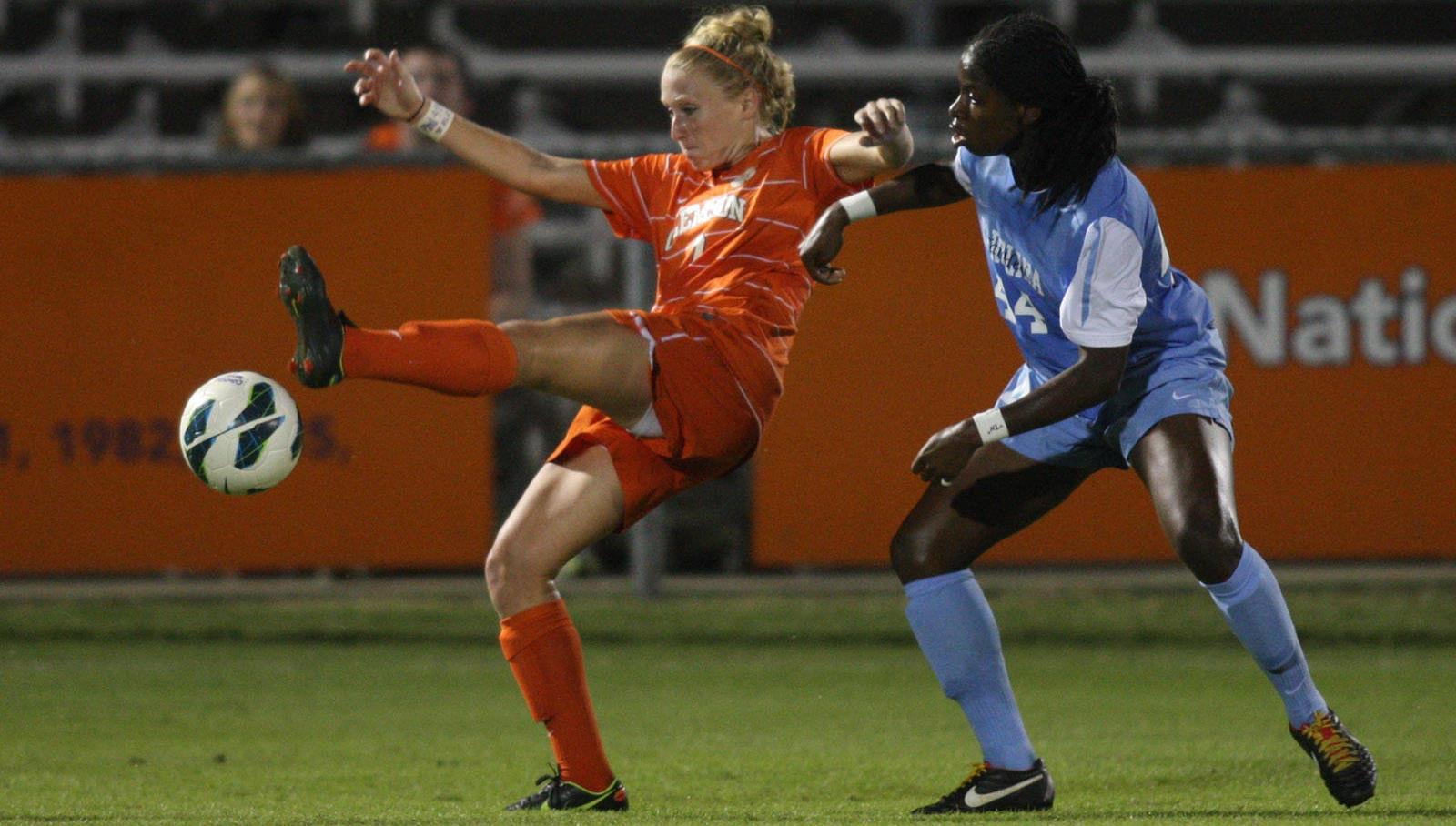 Clemson Women's Soccer Team Falls to #7 North Carolina Friday at Historic Riggs Field