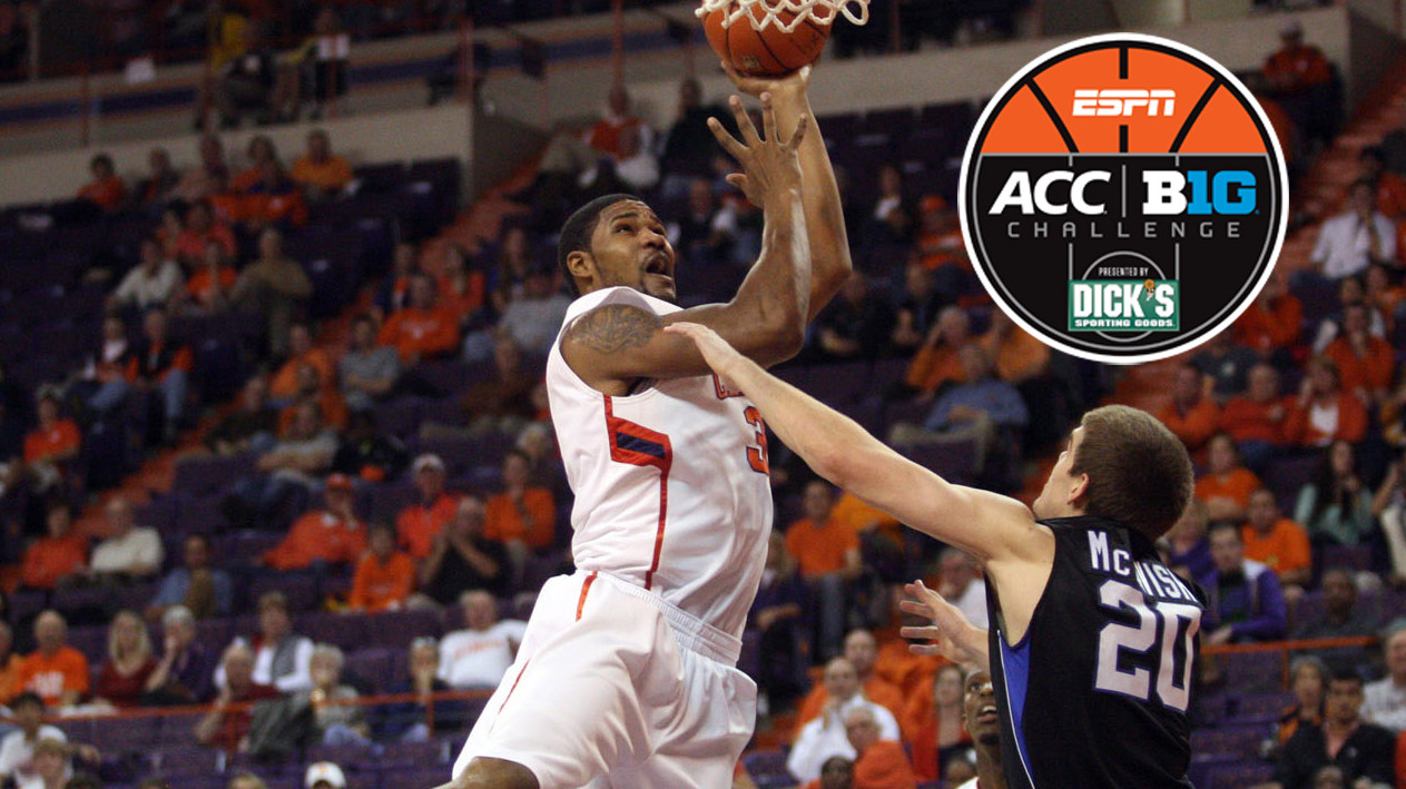 Tigers to Play Host to Purdue Wednesday in ACC/Big Ten Challenge