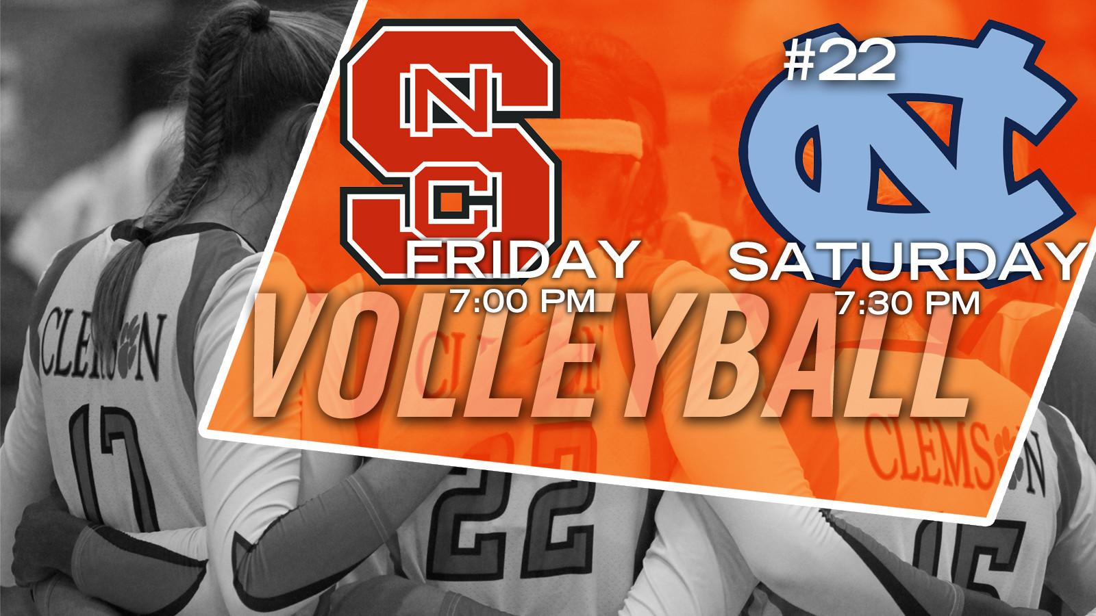 Volleyball Hosts NC State, No. 22 North Carolina