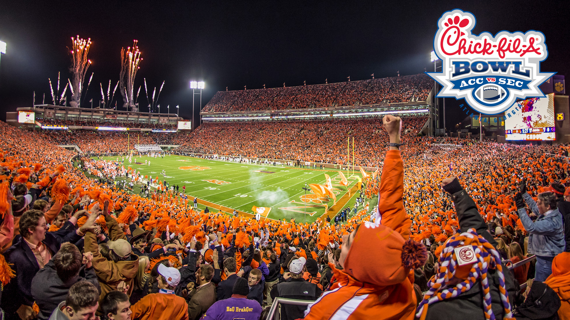 Clemson to Face LSU in Chick-fil-A Bowl