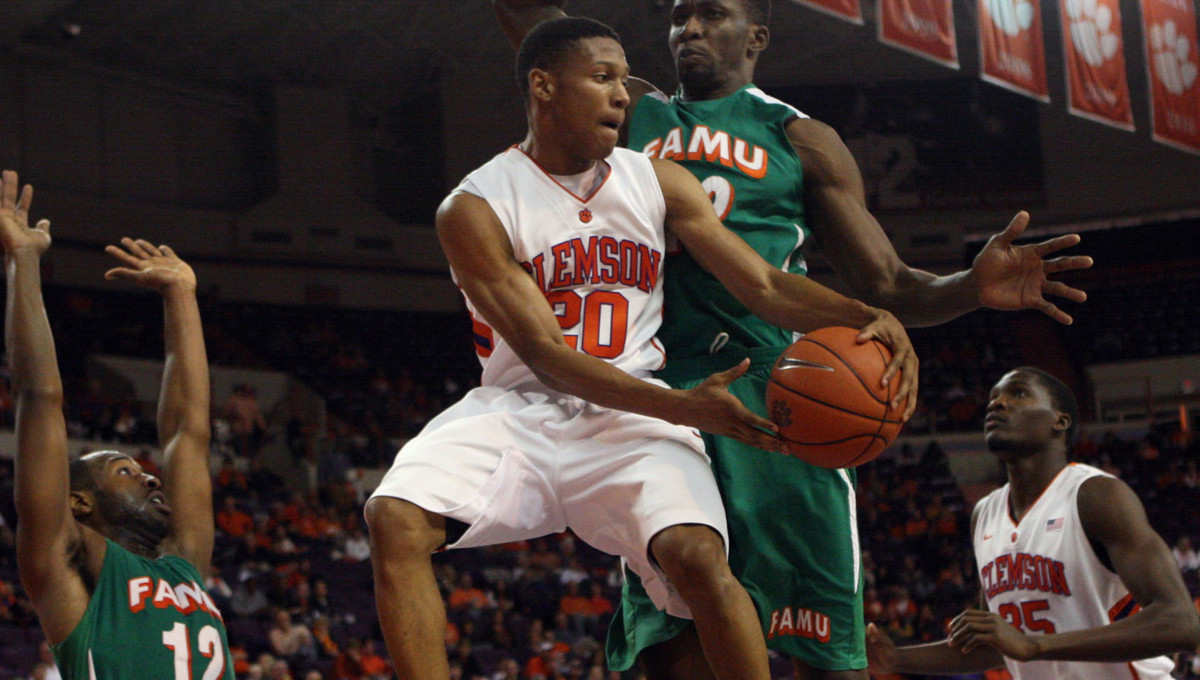 Clemson Takes Command in Second Half and Coasts to 80-57 Victory over Florida A&M