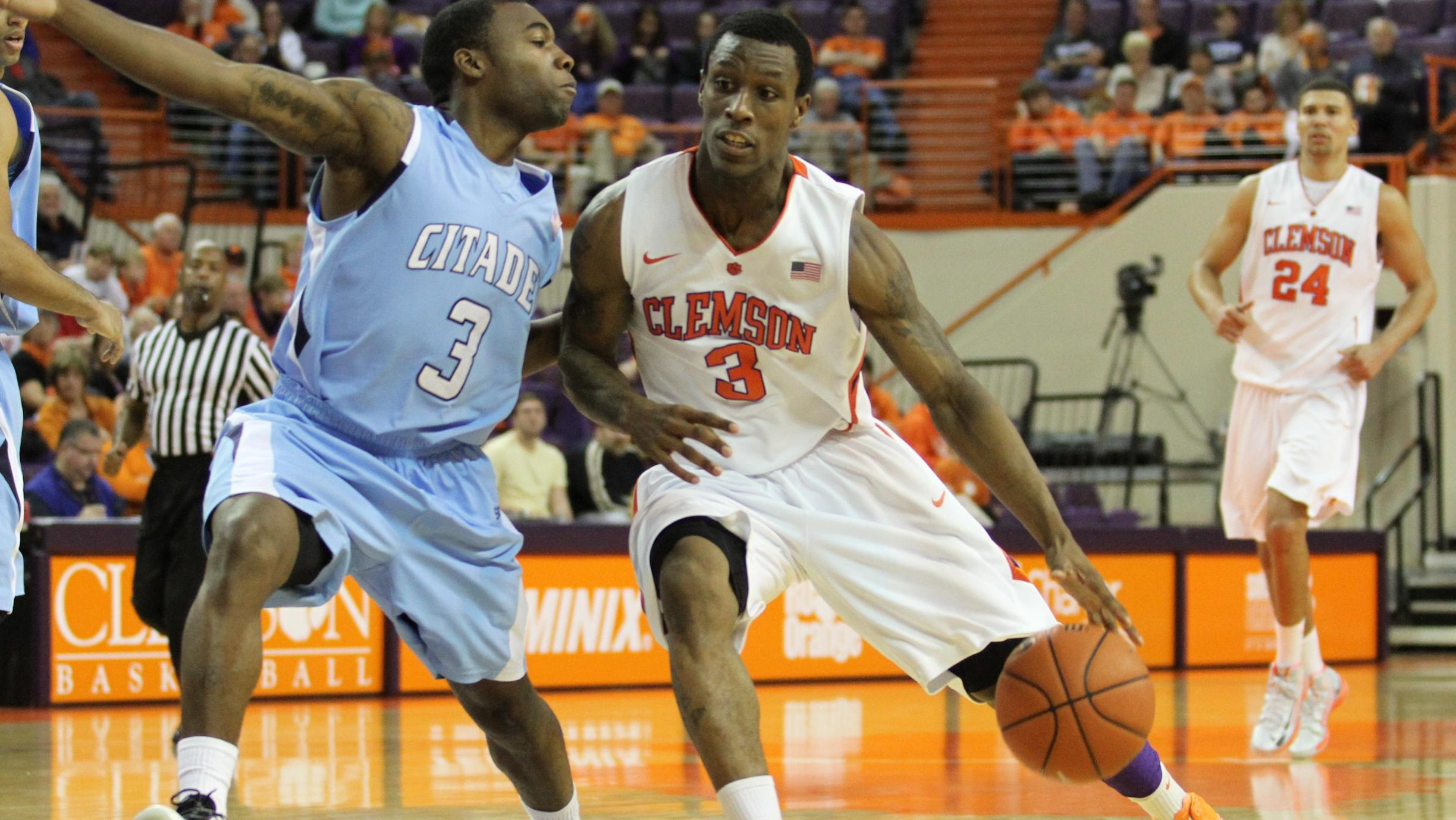 Clemson Offense Comes to Life in 92-51 Victory over The Citadel