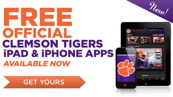 Clemson Athletics Unveils Official iPhone and iPad Apps