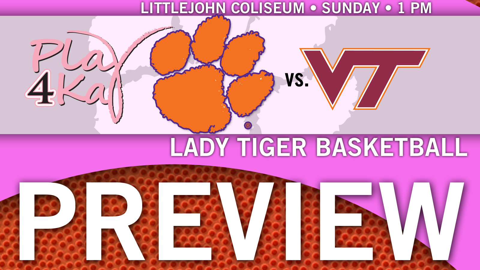 Lady Tigers Host Virginia Tech in Pink Game