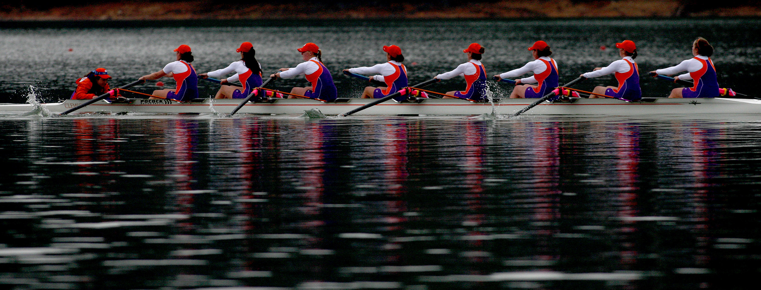 No. 14 Rowing Competitive on Day One of Clemson Invite