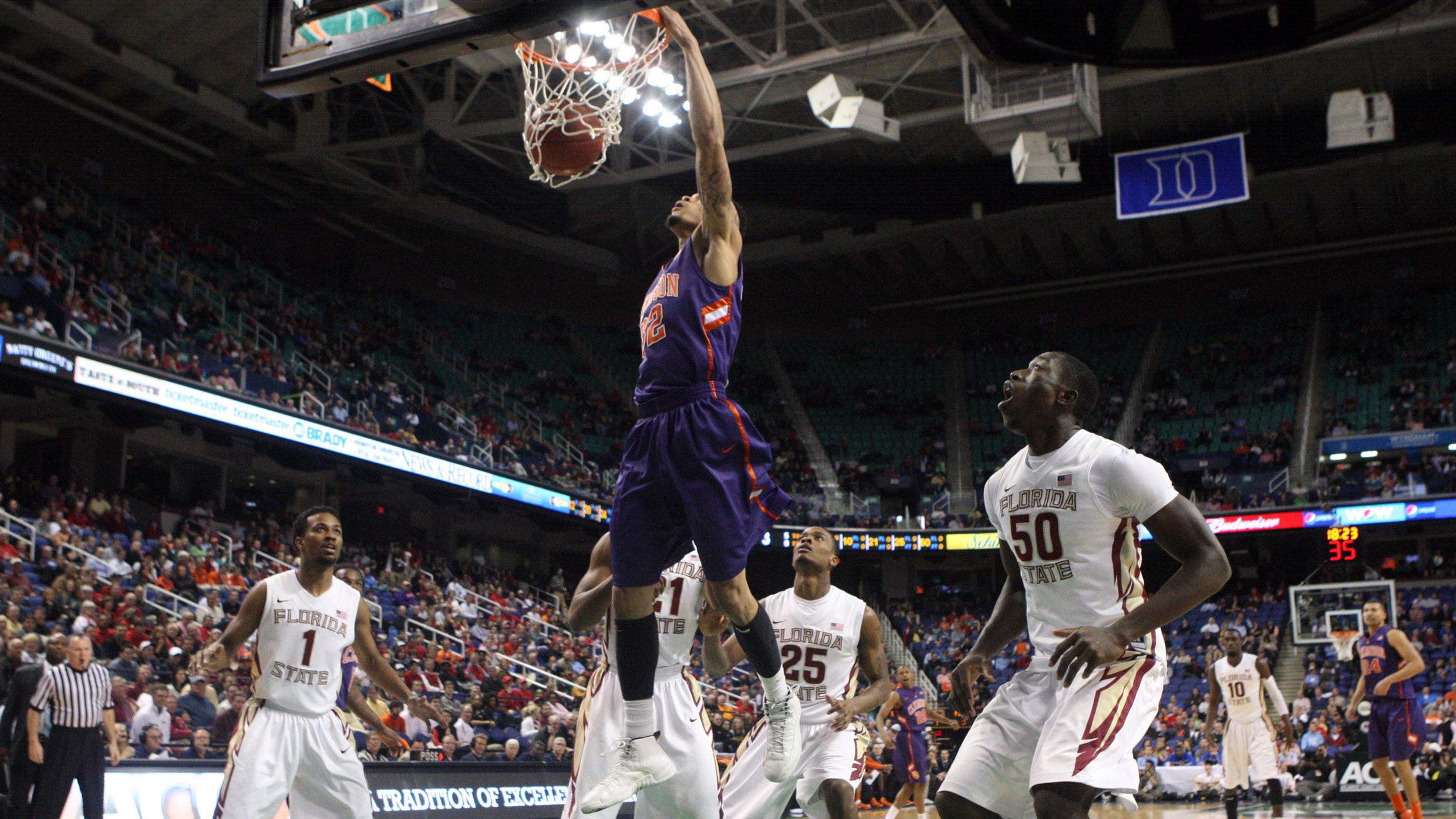 Clemson Season Ends with 73-69 Loss to Florida State in ACC Tournament