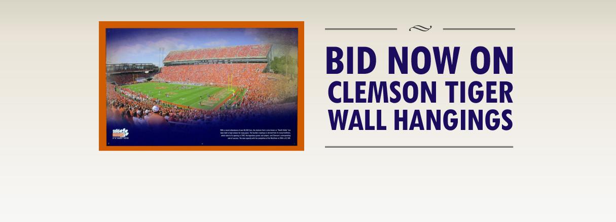 Clemson Athletics Introduces Online Auctions on ClemsonTigers.com