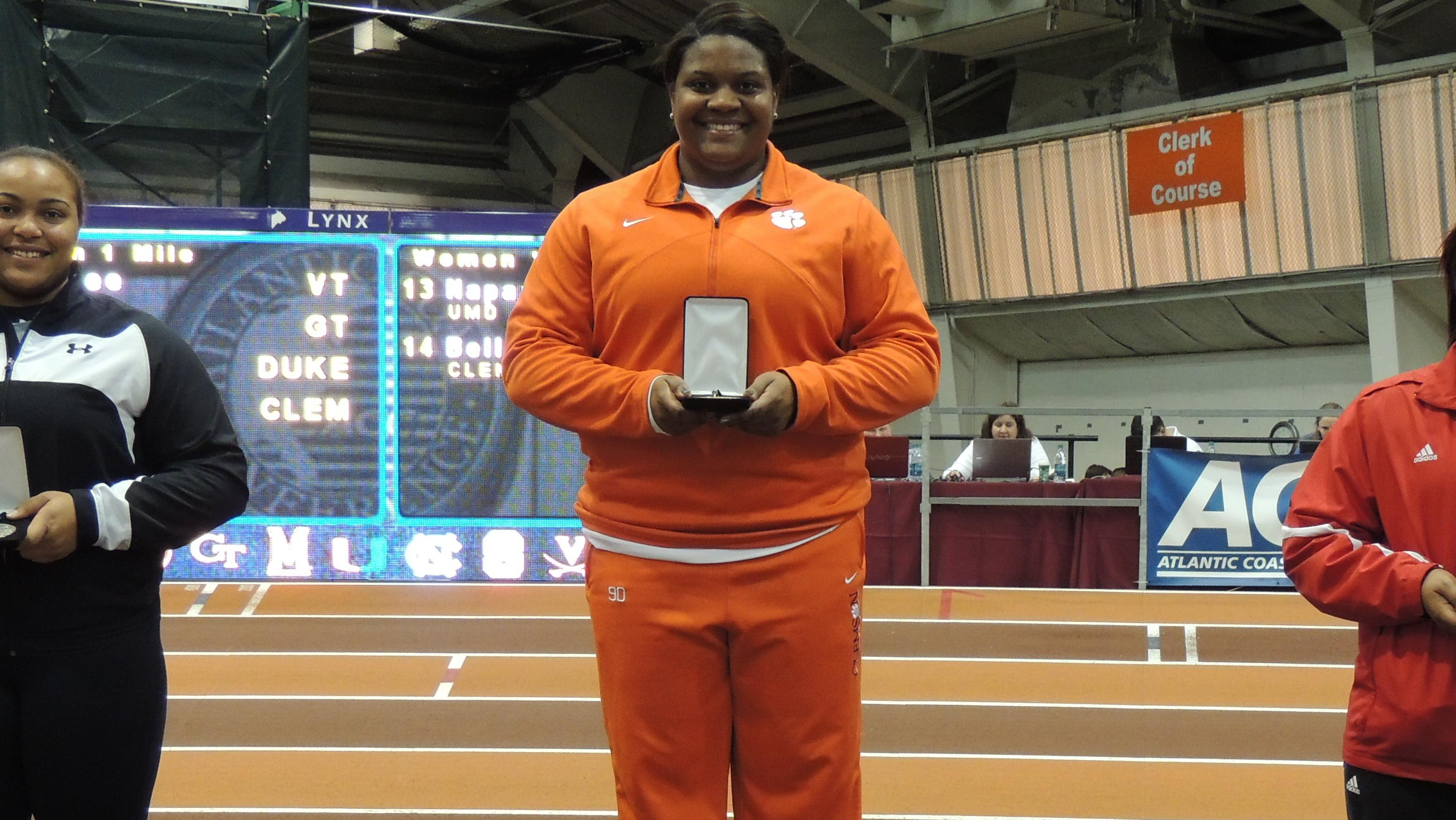 Clemson Women Tied for 5th After Day One of NCAA Indoor Track & Field Championships