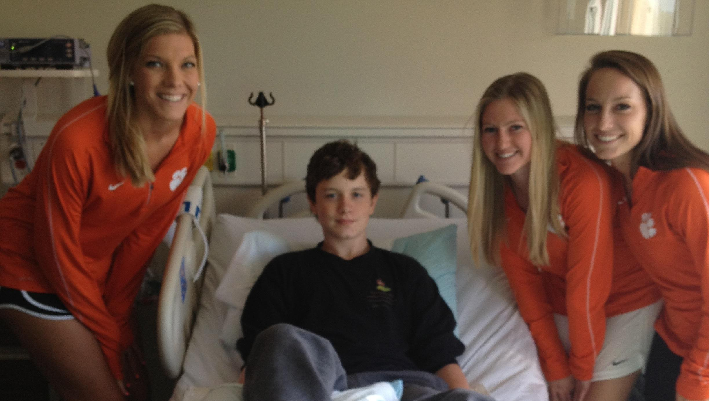 Clemson Women's Soccer Team in Action in the Community