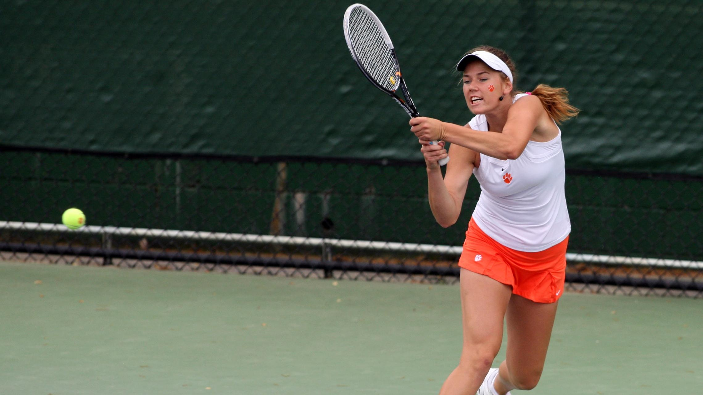 @ClemsonWTennis Claims Top Four Singles Flights at RAFC