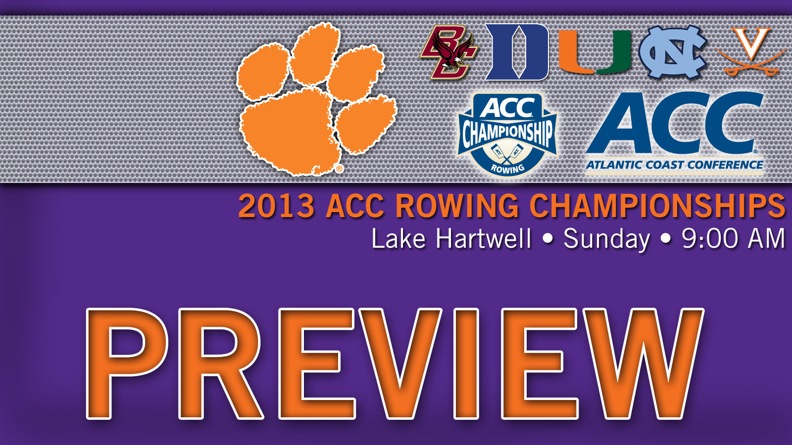 No. 16 Clemson to Host 2013 ACC Rowing Championships on Sunday