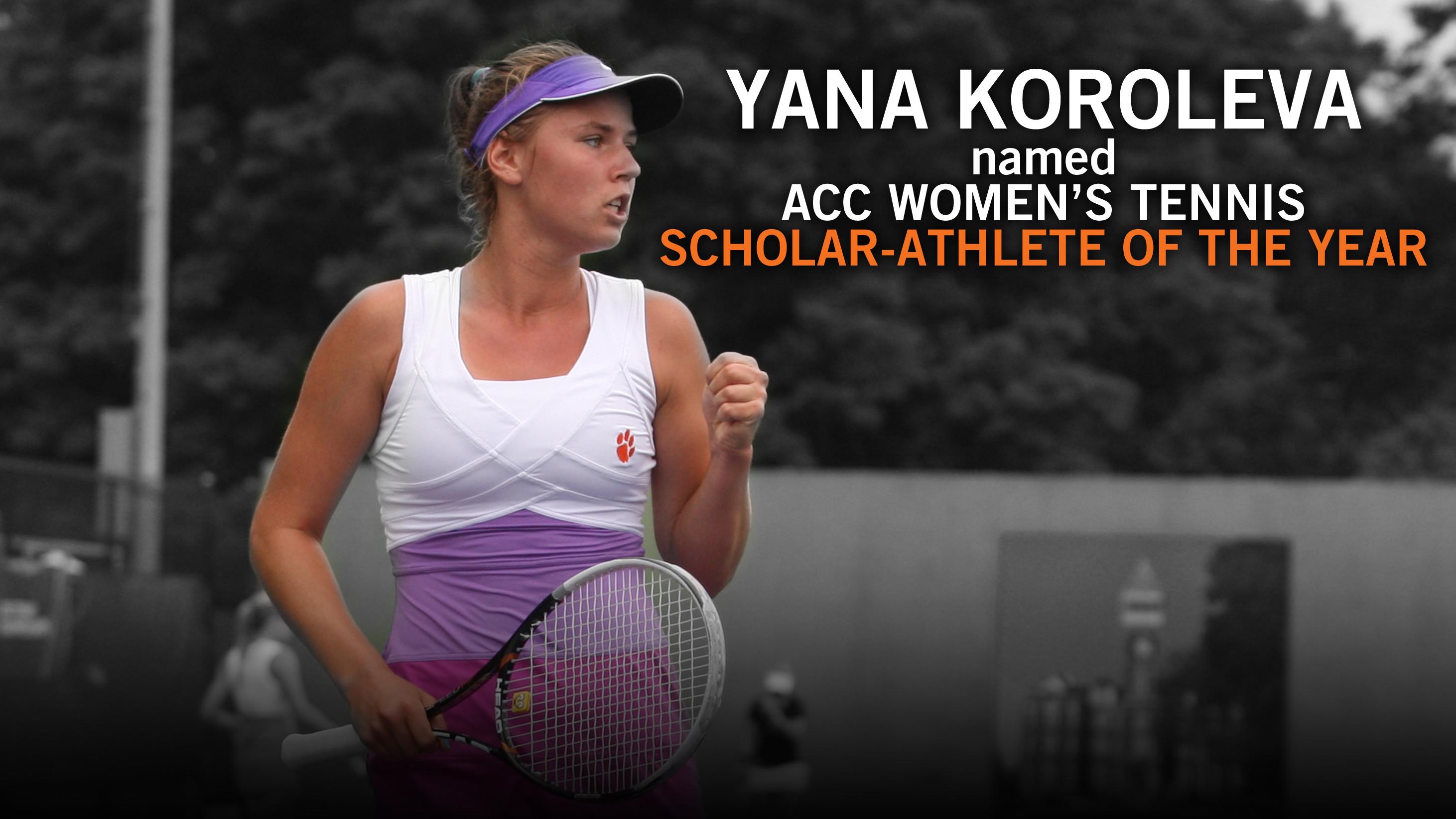 Yana Koroleva Named ACC Women?s Tennis Scholar-Athlete of the Year