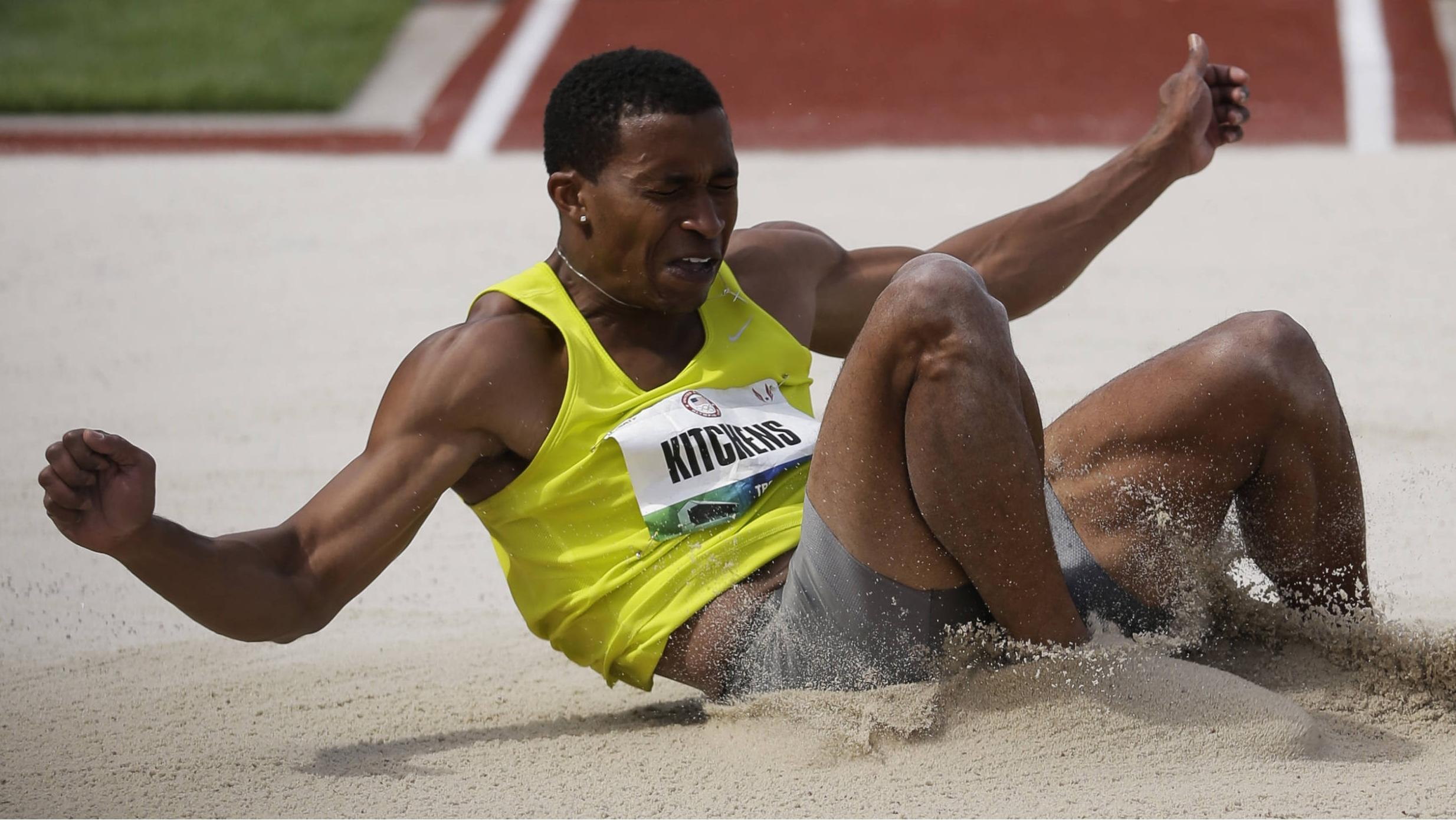 George Kitchens Wins USA Crown in Long Jump