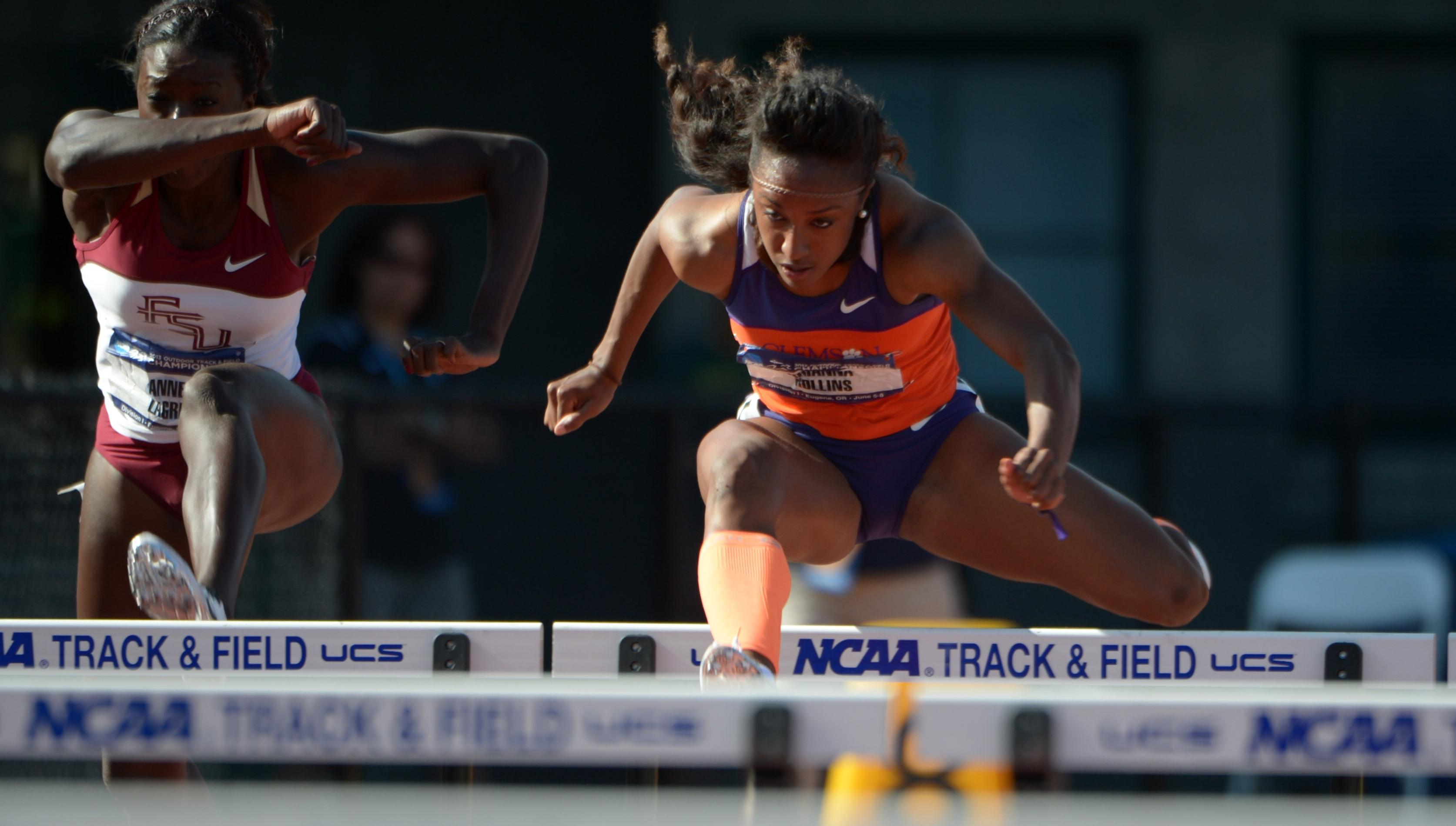 Rollins Breaks NCAA Record in 100 Hurdles Thursday at Outdoor Nationals