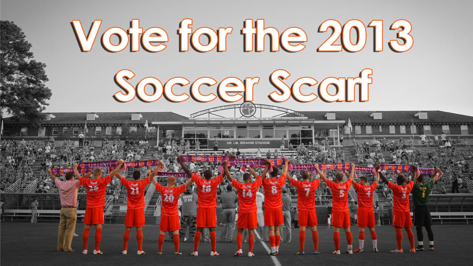 Vote for the 2013 Clemson Soccer Scarf Design