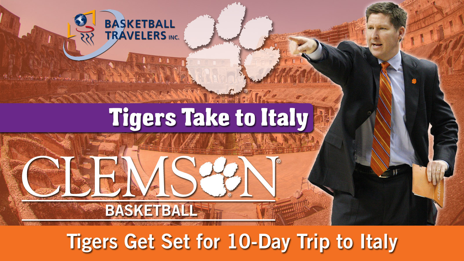 Clemson to Embark on 10-Day Tour of Italy on August 8