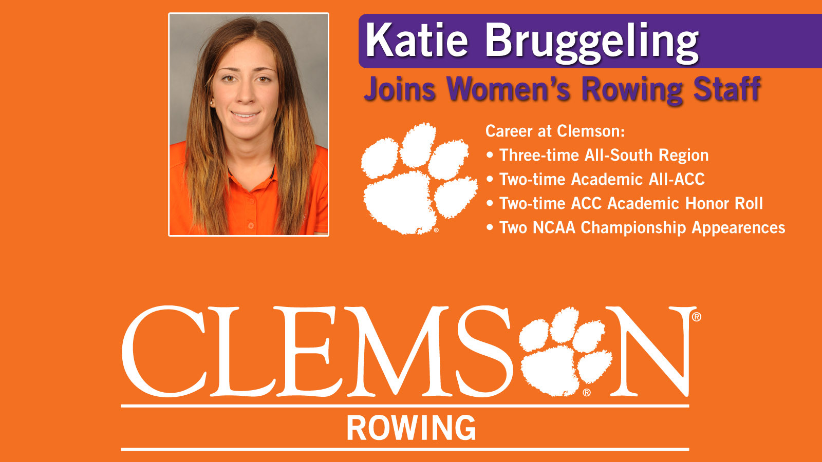Bruggeling Joins Women?s Rowing Staff