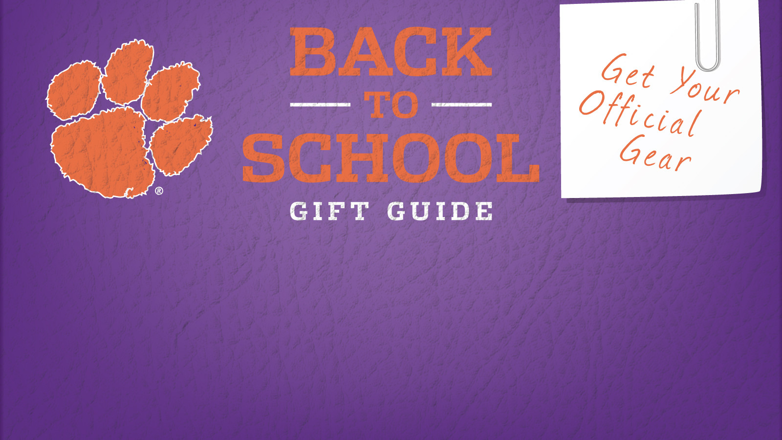Shop Back to School Gift Guide at Clemson's Official Online Store