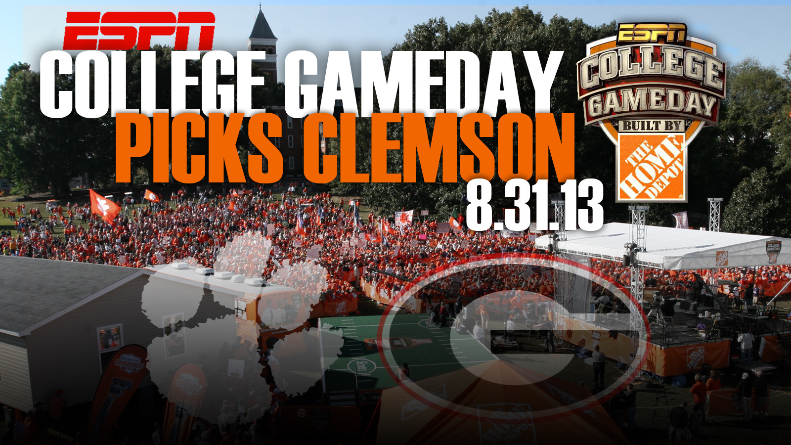 ESPN College GameDay Coming to Clemson on August 31