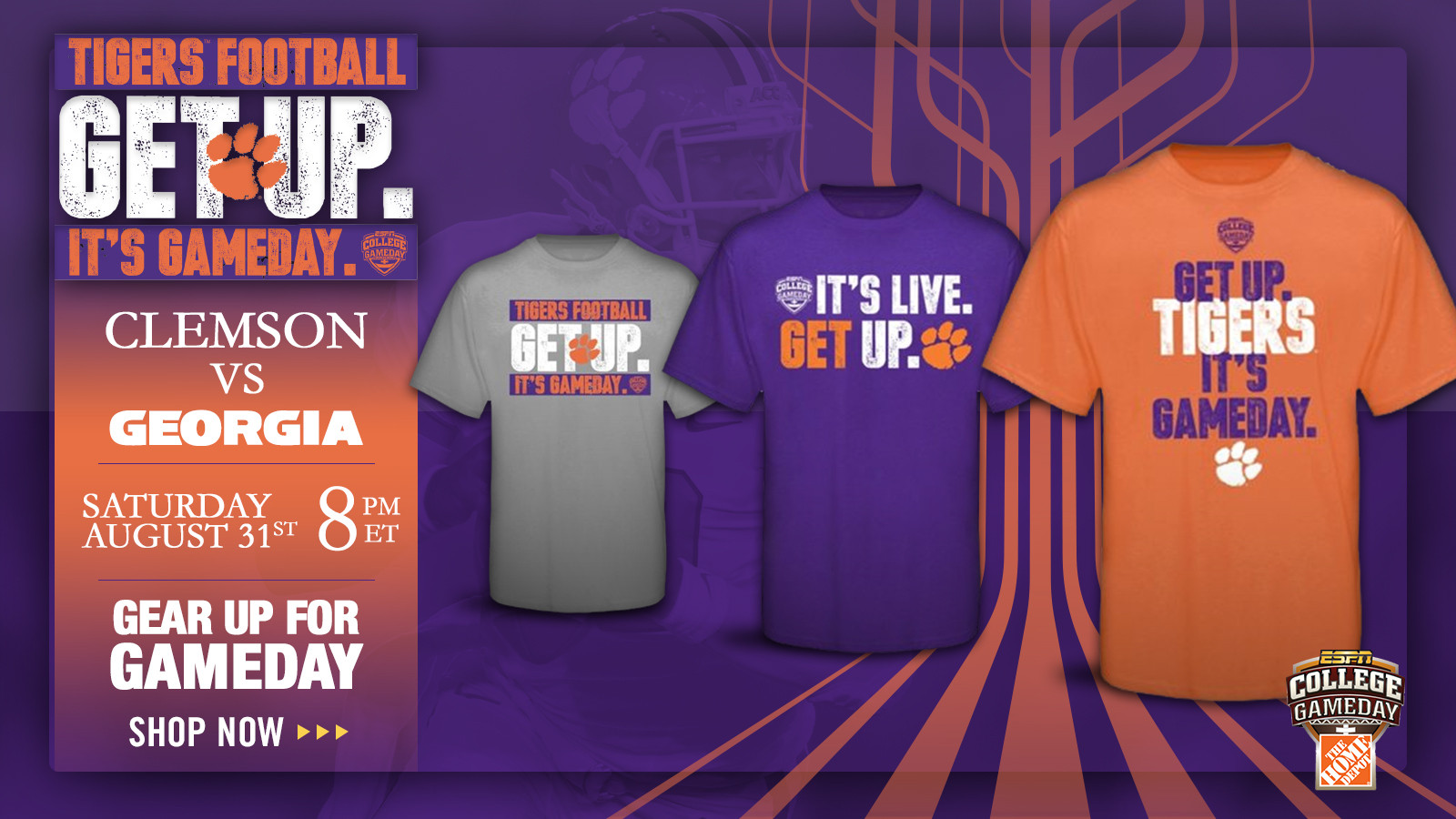 Clemson-ESPN GameDay Gear Now Available at Official Online Store