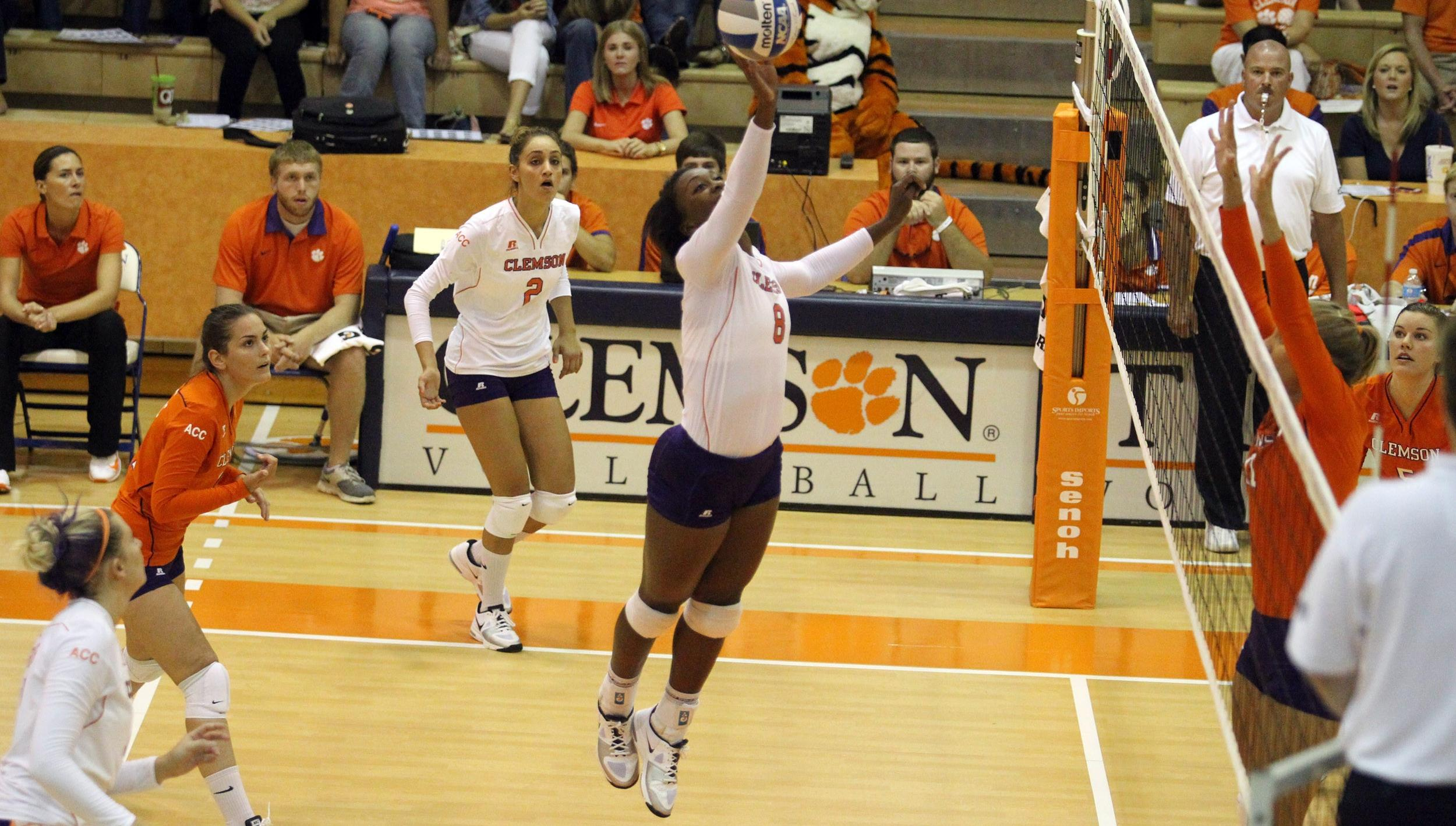 Volleyball Splits a Pair on Opening Day