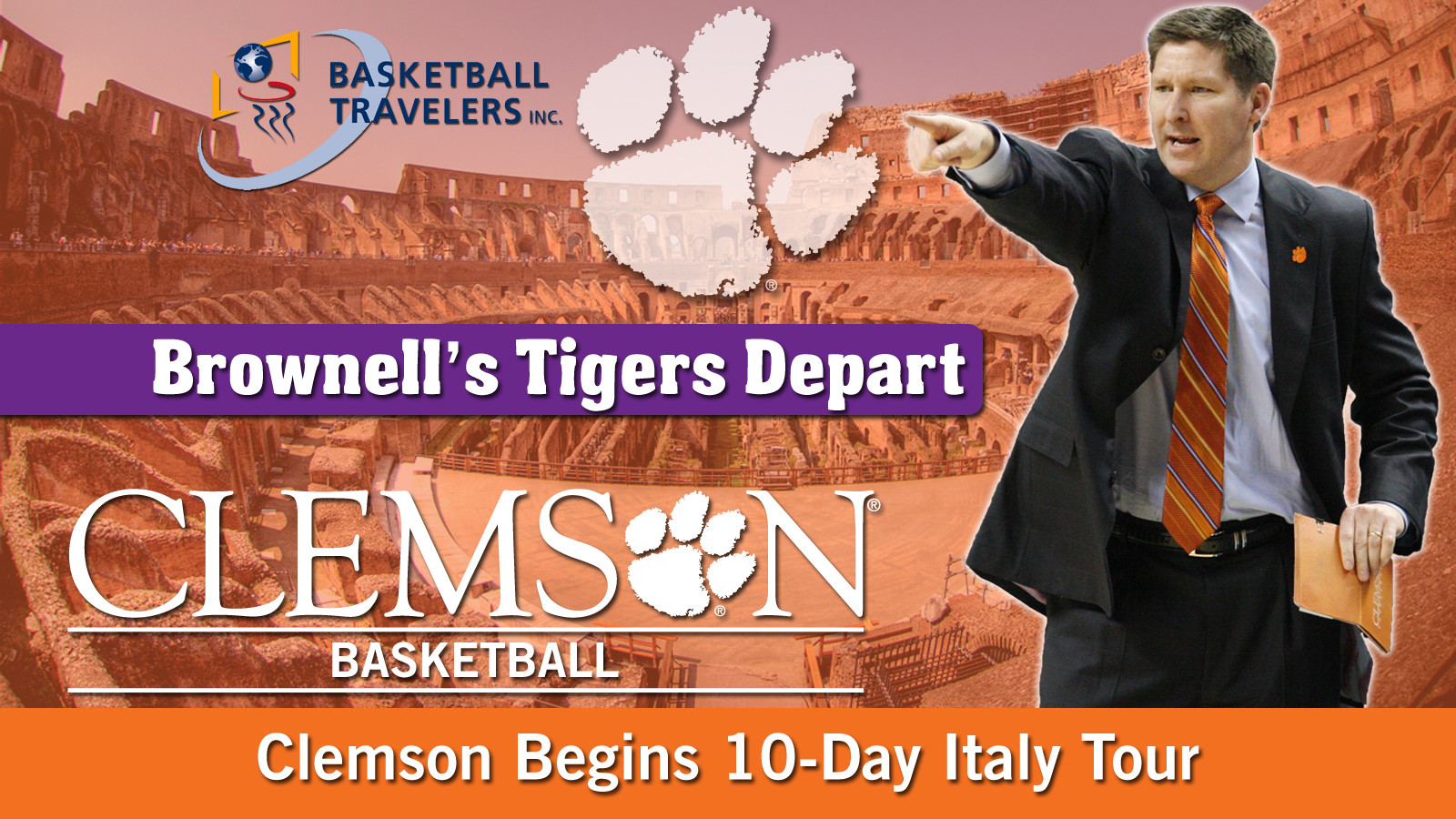Men's Basketball Begins Quest to Italy