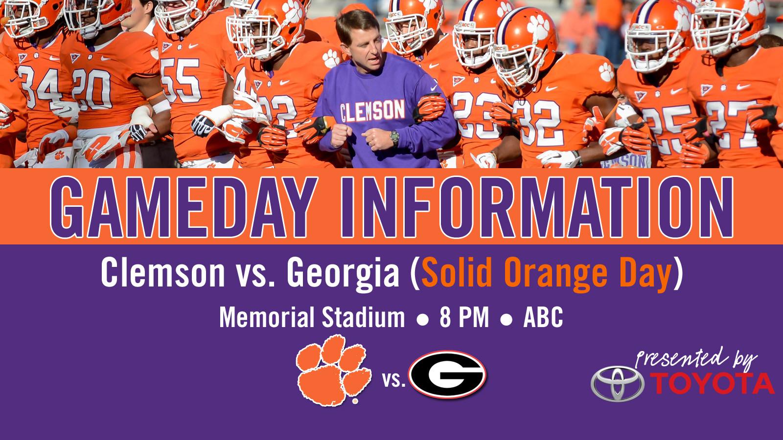 Clemson vs. Georgia Football Gameday Information Guide