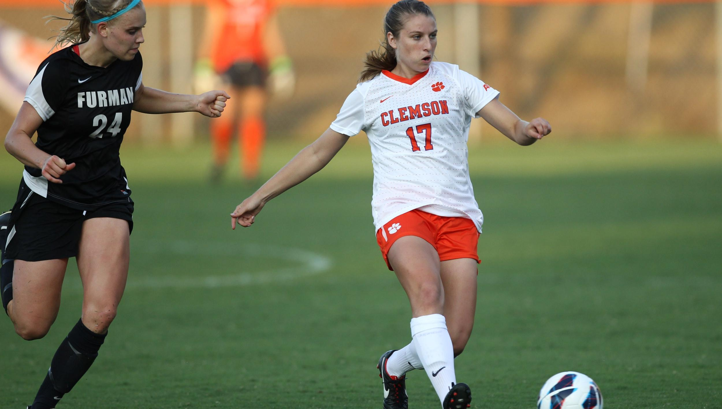 Clemson Women's Soccer to Play Host to #11 South Carolina, Davidson this Weekend