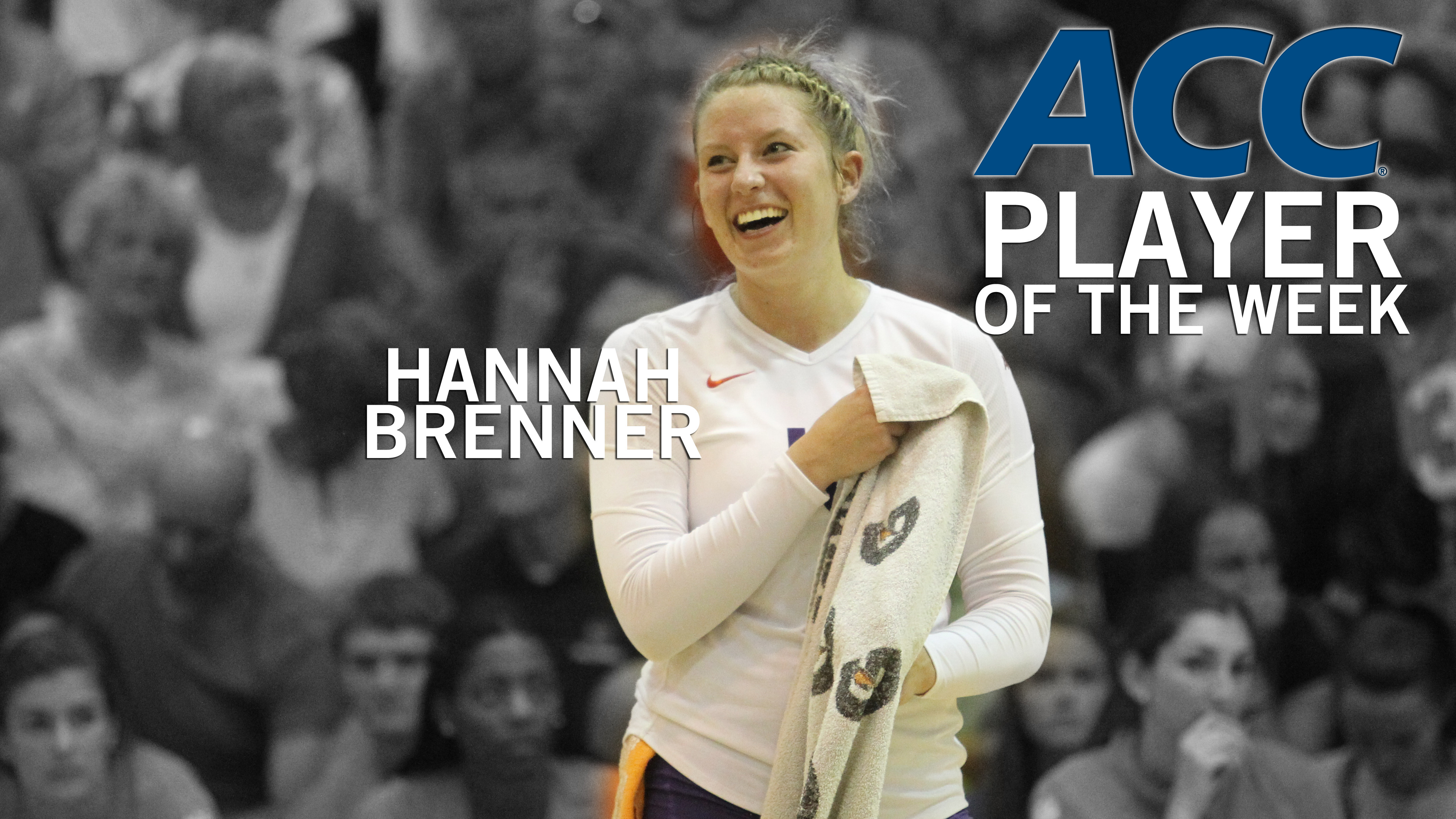 Hannah Brenner Named ACC Volleyball Player of the Week