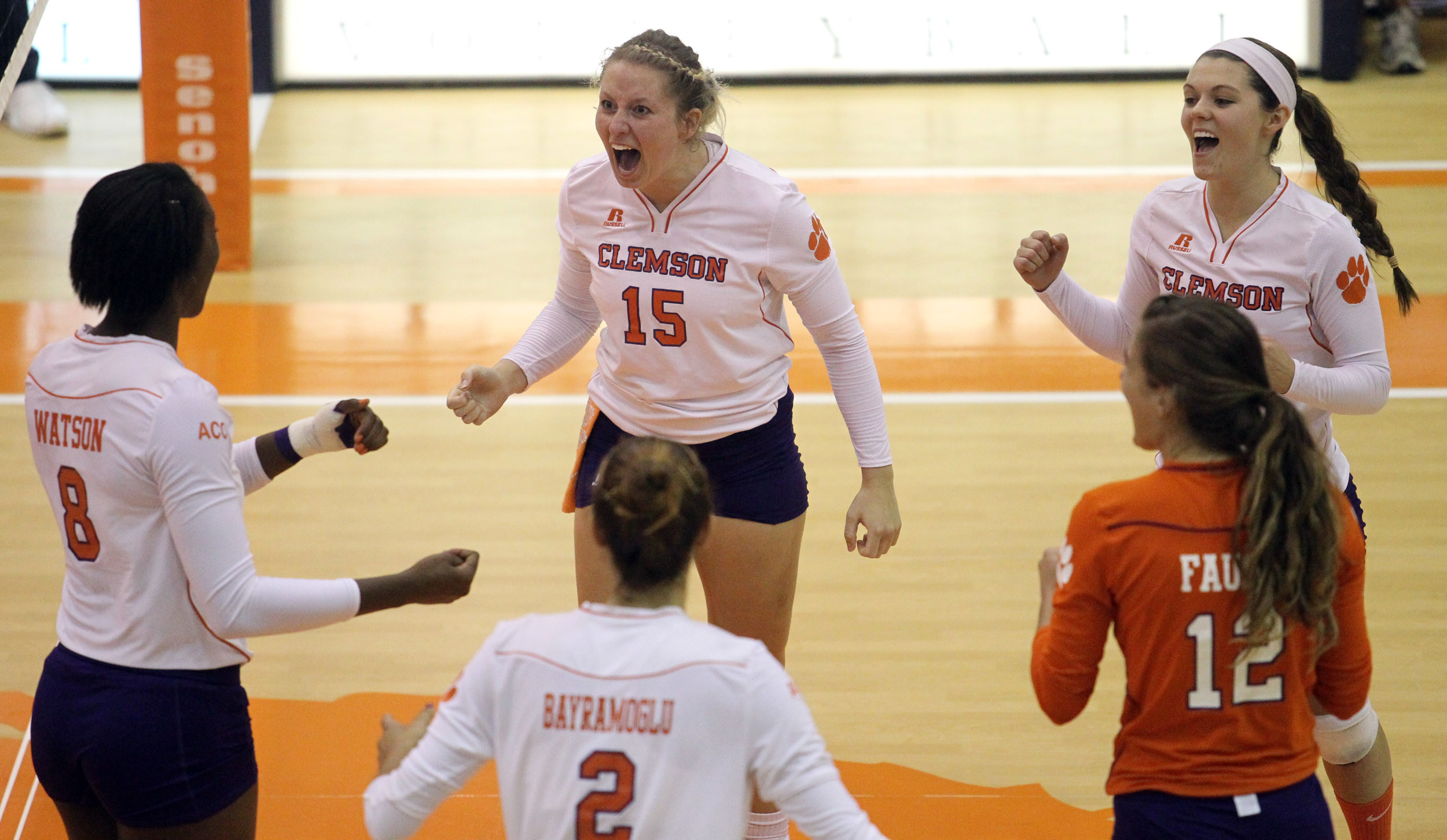 @ClemsonVB Comes Back to Stun Wake Forest in Five